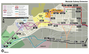 Los Angels West Side Subway Alignment Alternatives