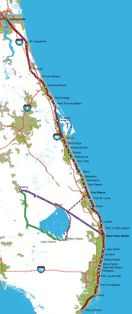 Florida East Coast Railway Map Florida East Coast Railway Studied for Potential Intercity and