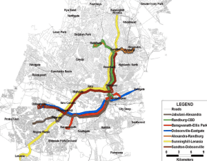 Johannesburg BRT Project Map