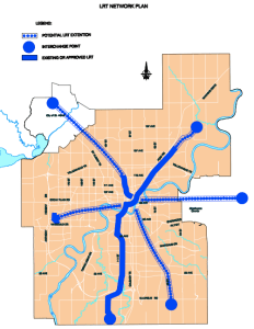 Edmonton Light Rail Network Plan Map