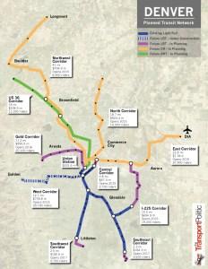 Denver Planned Transit Network