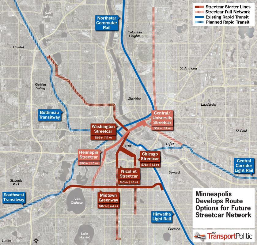 Minneapolis Advances Streetcar System Plan « The Transport Politic