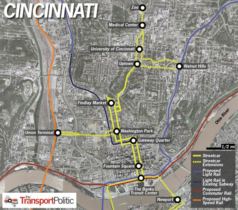 Cincinnati Subway Map.Cincinnati Approves Funding For Streetcar Increasing Likelihood Of