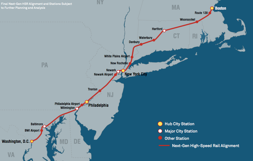 HighSpeed Rail Do We Have The Will Streetsblog USA - High speed rail us map