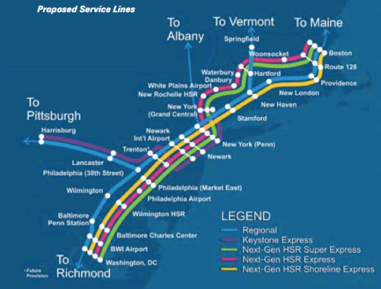 Amtrak Stations In Washington State Map.Amtrak Unveils Ambitious Northeast Corridor Plan But It Would Take