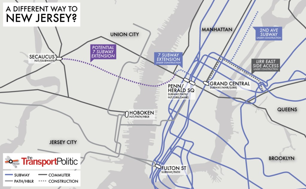 Subway Map 137 Hudson Street.To Replace The Arc Tunnel A Subway Extension To New Jersey The