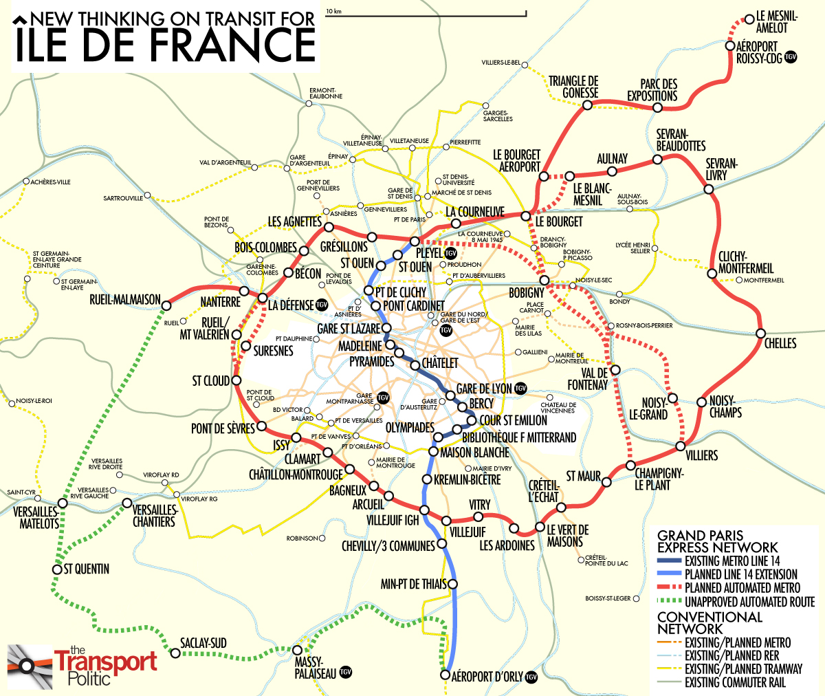A Grander Paris Through a Rapid Circumferential Metro The