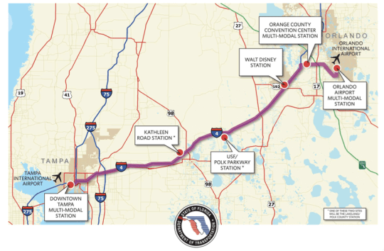florida governor rick scott rejects funding for tampa orlando intercity rail project the transport politic