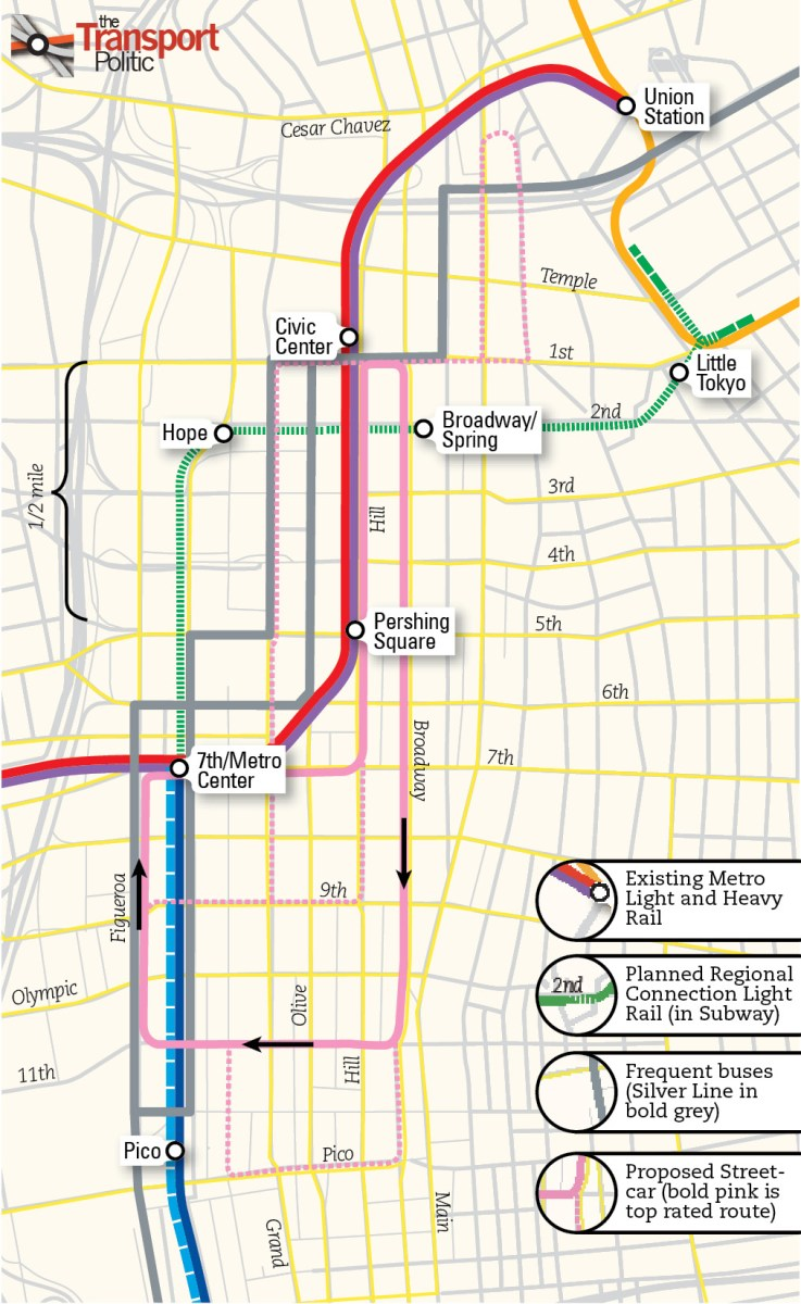 Los Angeles' Streetcar Plans: Too Duplicative of Existing Services on