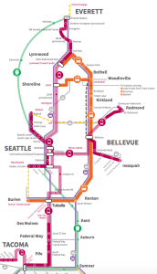 Light rail here, there, and everywhere in new plans for Seattle. Source: Sound Transit.