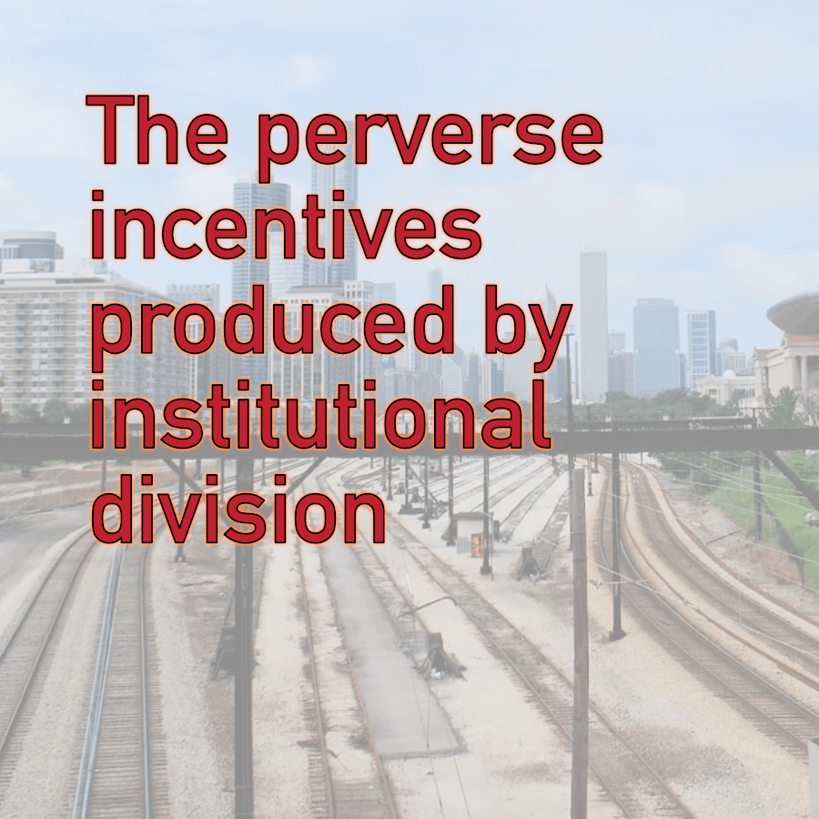 The perverse incentives produced by institutional division