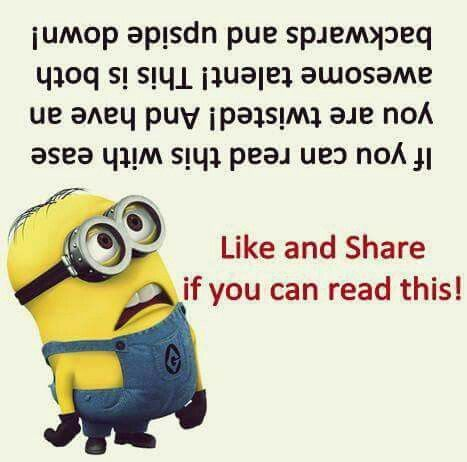 upside down minion