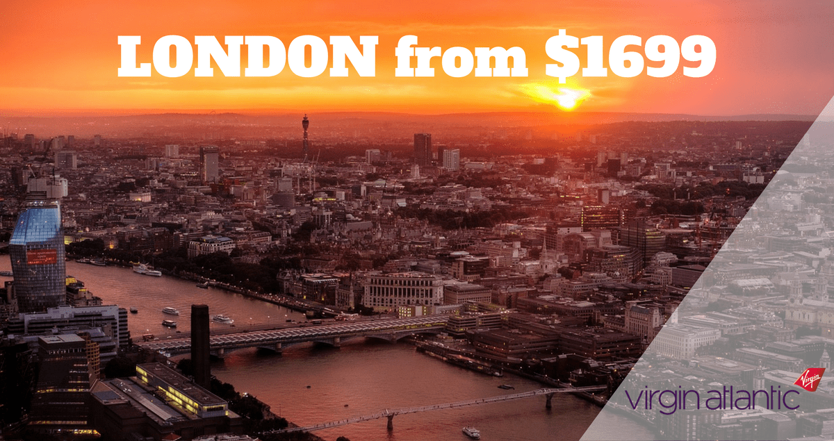 LONDON from $1699 virgin