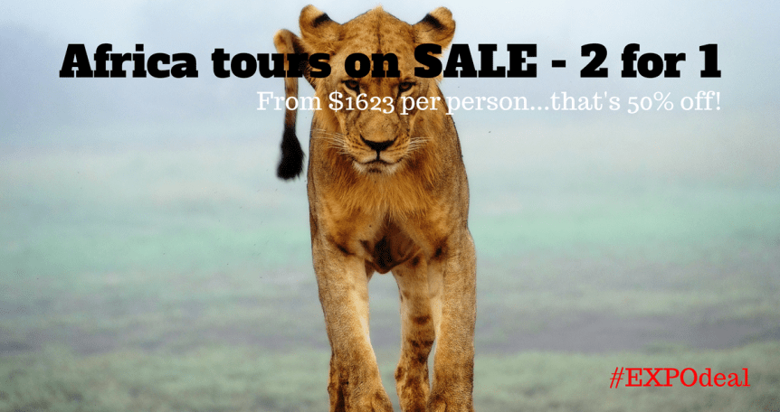 Africa tour Kenya, Tanzania on sale