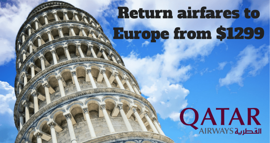 Qatar airlines Europe flights from $1299