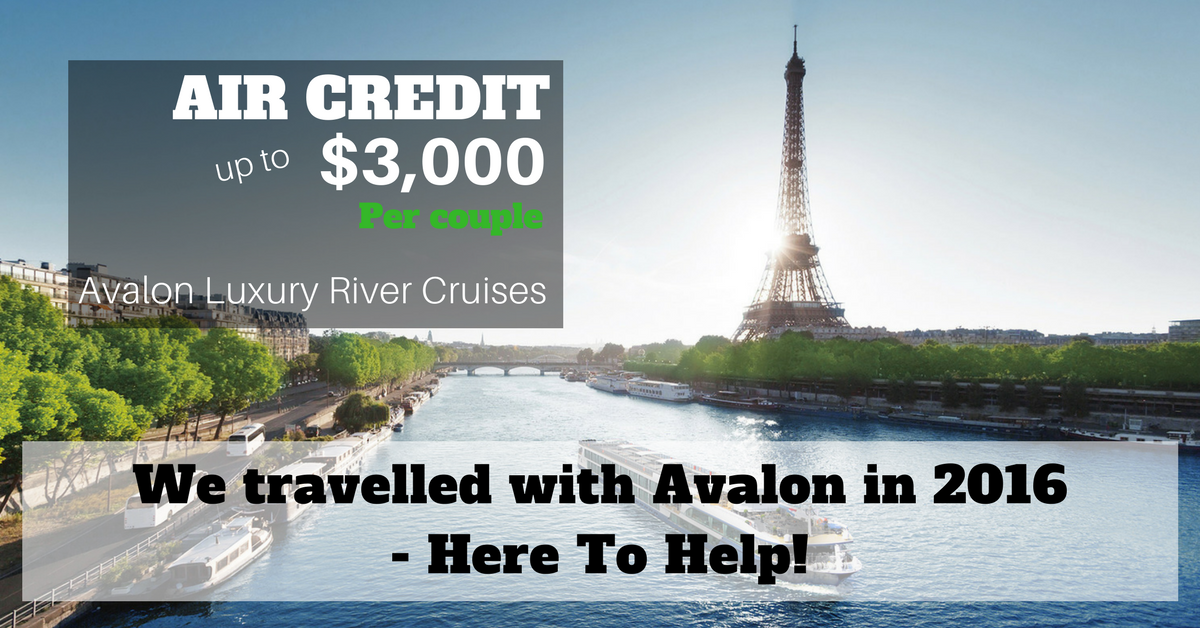 Avalon River cruise airfare credit sale
