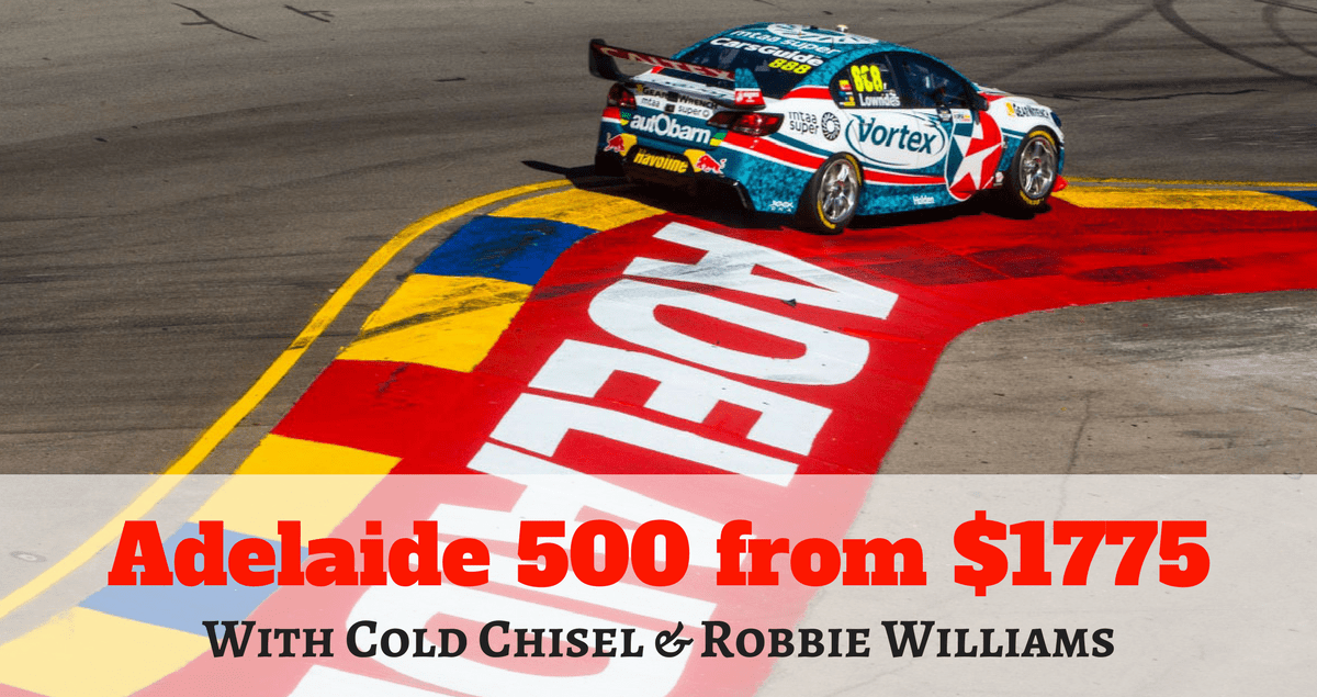 Adelaide 500 with cold chisel and robbie williams