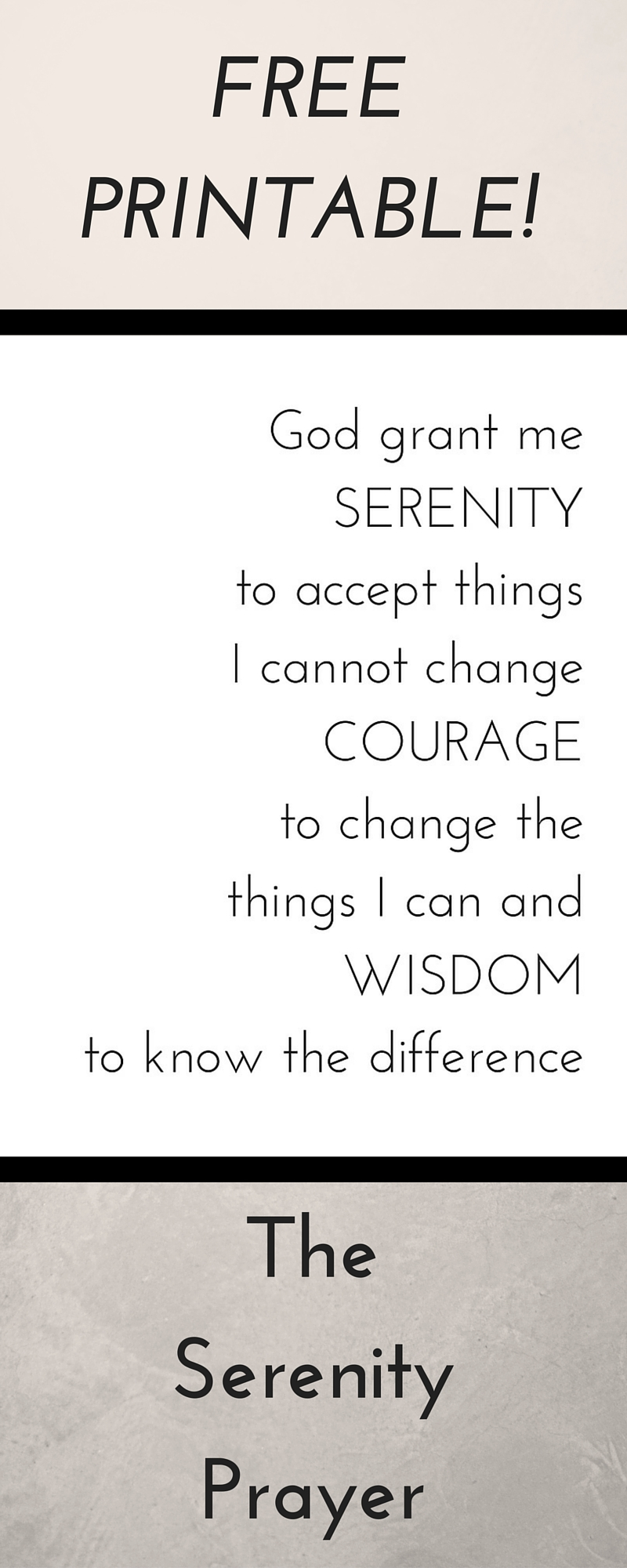 picture about Free Printable Serenity Prayer identified as no cost Archives - The Travellers Nest