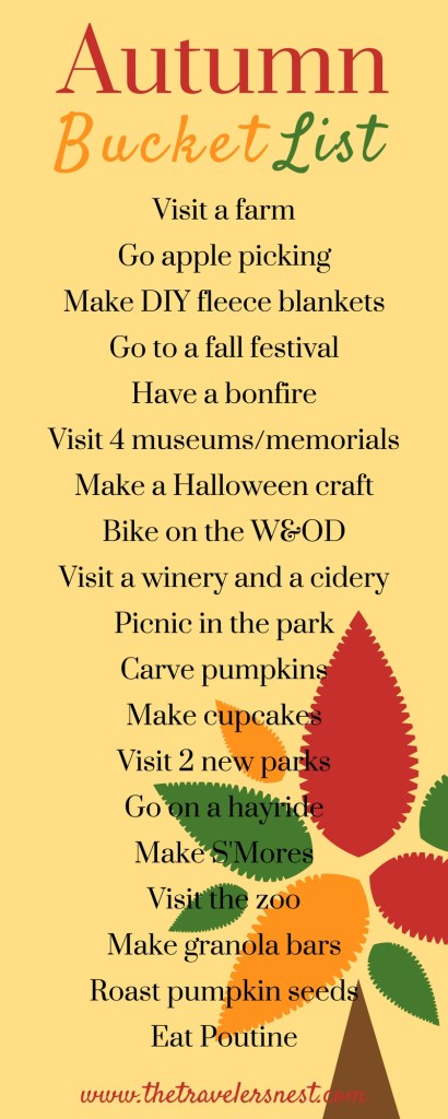 autumn bucket list 2016
