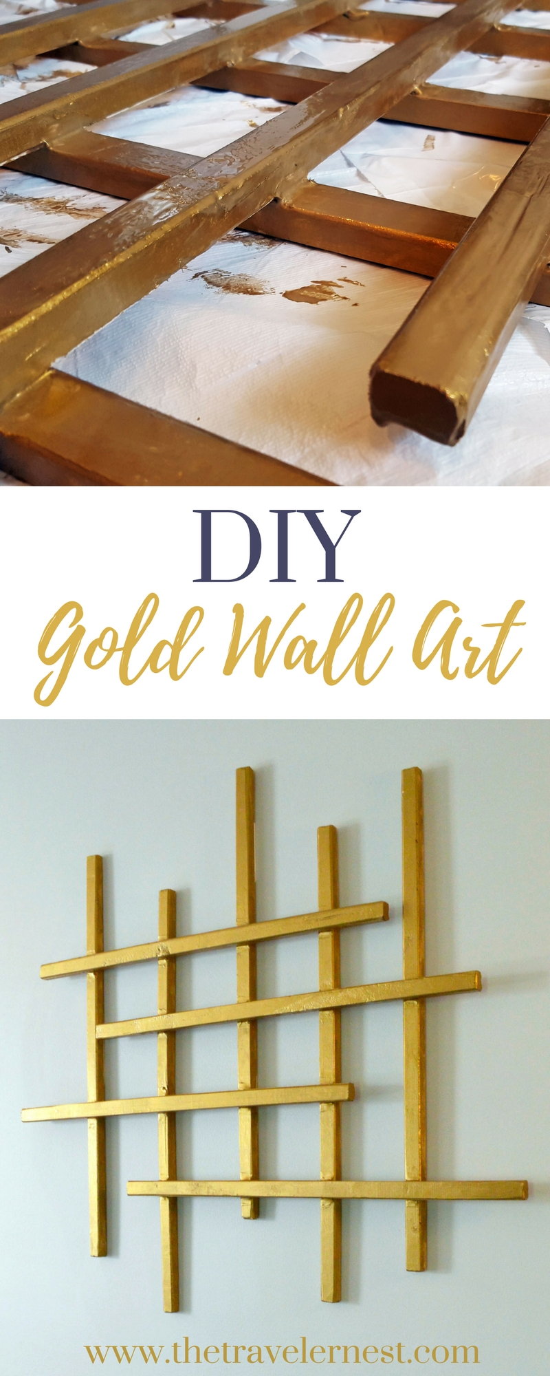 DIY: Gold Wall Art