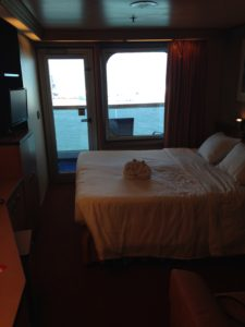 Balcony room on the Carnival Triumph