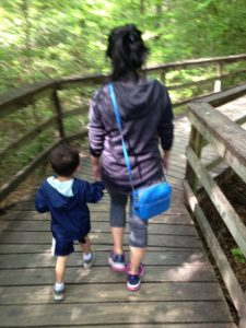 Tyler and Mom on Boardwalk Trail