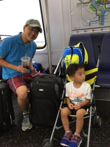 Tyler and Dad on the DC Circulator