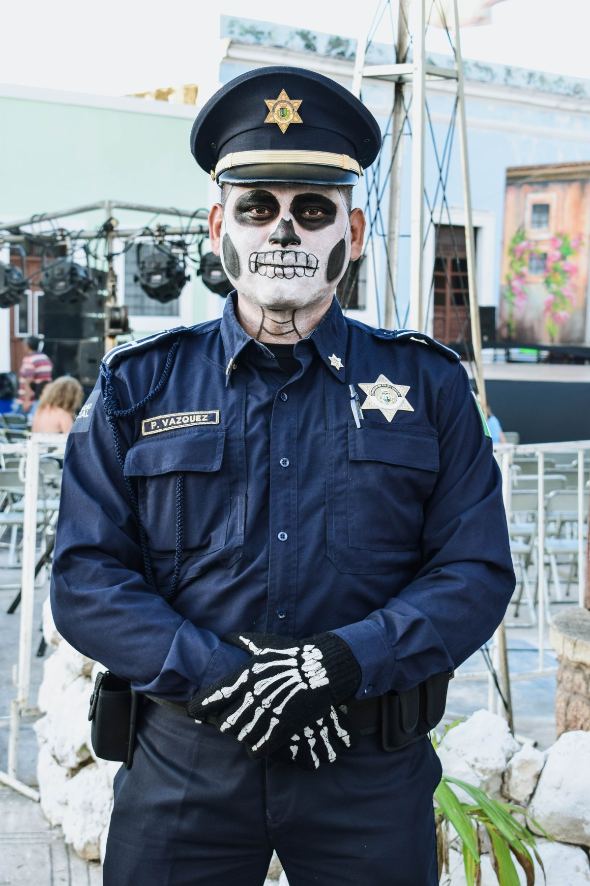 The Day of the Dead police costume