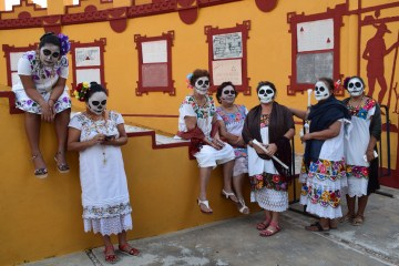 The Day of the Dead parade Mexico