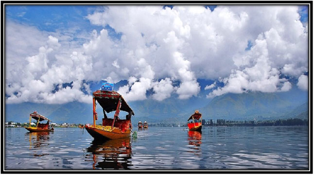 Boating in Kashmir
