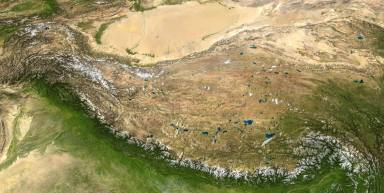 Composite image of the Tibetan Plateau Source: Wikipedia