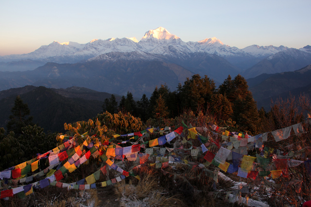 Mt Everest- as seen from Everest Base Camp.