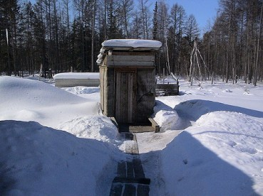 An outhouse in Oymyakon. Photo Credit: Natxo Rodriguez:flickr