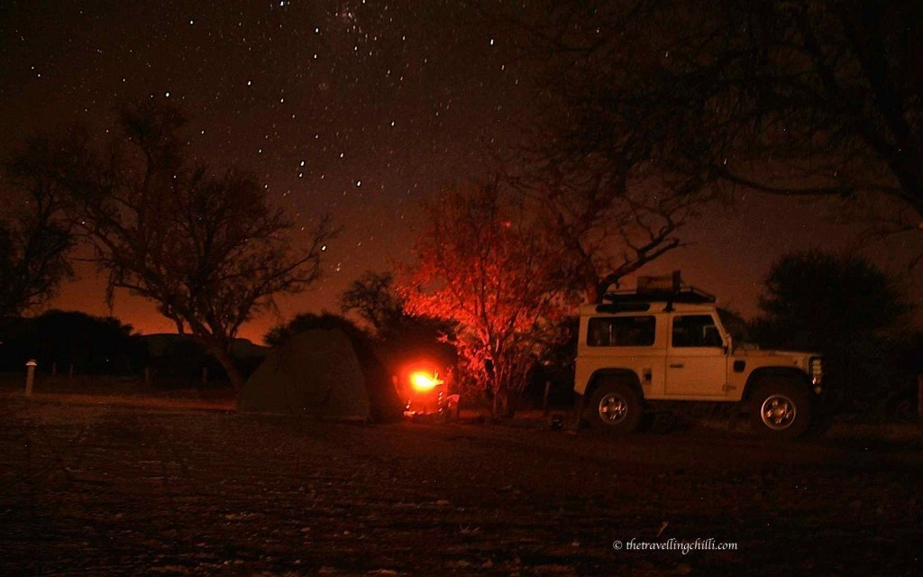 Marakele Bontle starry night stars campsite south africa sanparks