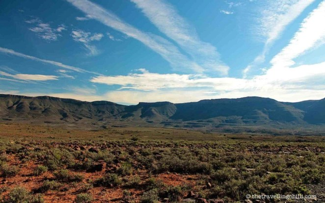 Karoo landscape mountain south africa