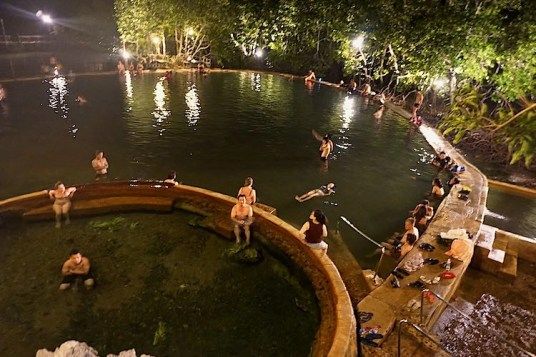 Maniquit Hot Springs in Palawan the Philippines