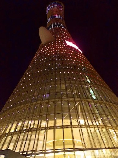 The Torch Doha at night |best Things to do in Doha Qatar | things to do in Qatar | Doha things to do