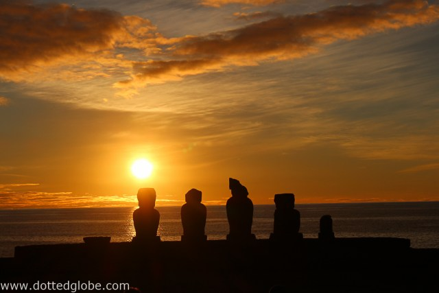 easter island sunset