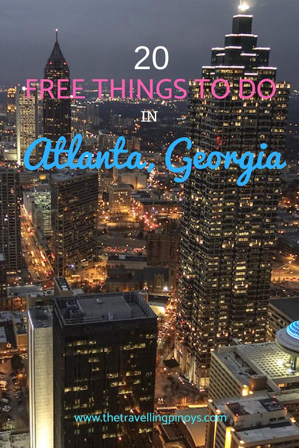 20 Free Things To Do In Atlanta, Georgia | Things To Do In Atlanta with kids | Things to do in Atlanta for adults | Atlanta GA | Atlanta downtown | Atlanta Georgia Attractions | Atlanta Travel | Atlanta budget travel | Atlanta beltline #budgettravel #travel #traveltips