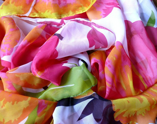 Silk, scarf, silk scarves, Como, City of Como, Province of Como, Lombardy, Italy