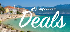 Skyscanner cheap flight deals banner