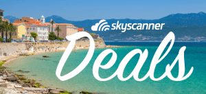 Skyscanner cheap flight deals banner
