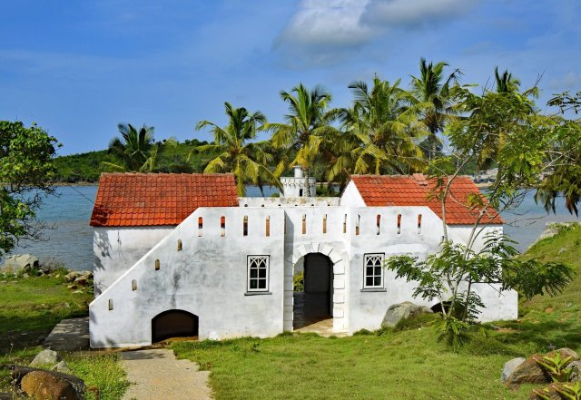 UNESCO World Heritage Sites in Ghana include Dixcove Fort, shown here.