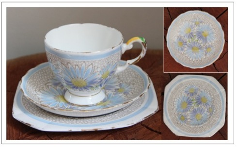 Vintage fine bone china trio - Plant Tuscan