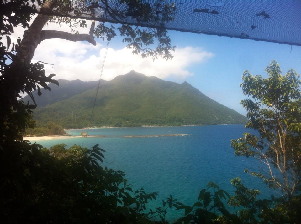 View from the top of the zip line in Sabang