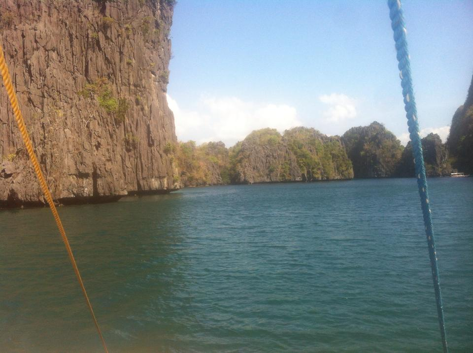 View of limestone cliffs in El Nido