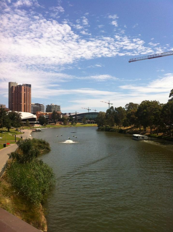 View along the River Torrens