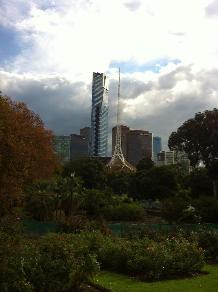View of Eureka Skydeck from Botanical Gardens