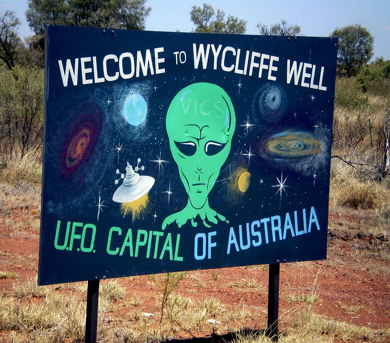 Aliens at Wycliffe Well
