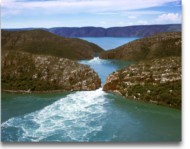 Horizontal waterfalls one of the most unusual places to visit in Australia